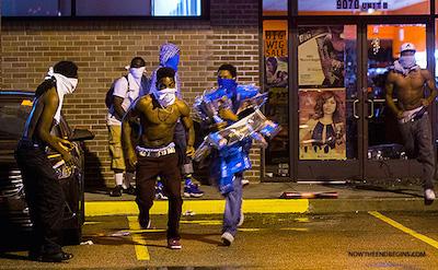 ferguson-protesters-looting-tourism-stealing-smashing-windows-no-peace-justice-mayhem