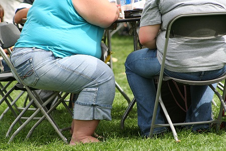 Obese women alter diets in response to additional calories from soft drinks