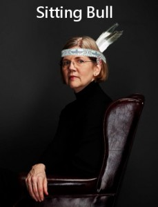 Elizabeth Warren sitting bull