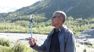 glacier-selfie