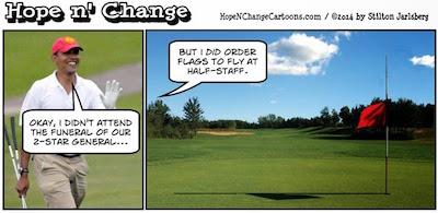 Obama-Flew-Golf-Flags-at-Half-Staff