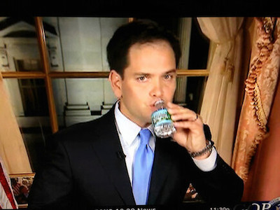 rubio-drinking-water